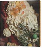 Santa Claus - Antique Ornament - 18 Wood Print