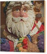 Santa Claus - Antique Ornament - 20 Wood Print by Jill Reger