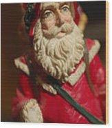 Santa Claus - Antique Ornament - 21 Wood Print