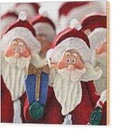 Santa Claus' Army  Wood Print by Sophie Vigneault