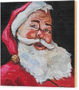 Santa Claus Wood Print by Carole Foret