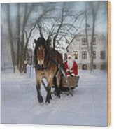 Santa Claus Wood Print by Conny Sjostrom