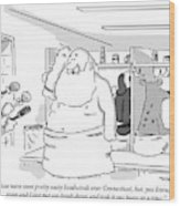 Santa Claus Is In A Locker Room Speaking Wood Print