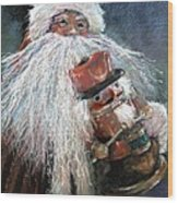 Santa Claus St Nick And The Nutcracker Wood Print