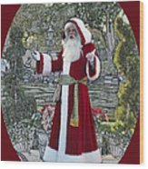 Santa Claus Walt Disney World Oval Wood Print