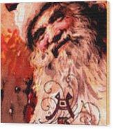 Santa Clause Vintage Poster A Joyful Christmas Wood Print