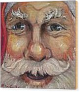 Santa Closeup Wood Print by Sheila Kinsey