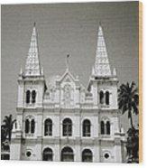 Santa Cruz Basilica In Cochin Wood Print