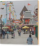 Santa Cruz Beach Boardwalk California 5d23625 Wood Print by Wingsdomain Art and Photography