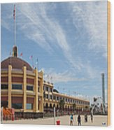 Santa Cruz Beach Boardwalk California 5d23748 Wood Print by Wingsdomain Art and Photography