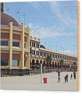 Santa Cruz Beach Boardwalk California 5d23749 Wood Print by Wingsdomain Art and Photography