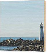 Santa Cruz California Lighthouse Wood Print