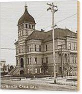 Santa Cruz High School On Walnut Street. Circa 1910 Photo By Besaw Wood Print