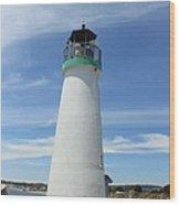 Santa Cruz Lighthouse Wood Print