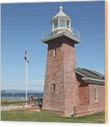 Santa Cruz Lighthouse Surfing Museum California 5d23936 Wood Print