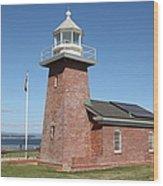 Santa Cruz Lighthouse Surfing Museum California 5d23940 Wood Print
