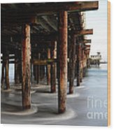 Santa Cruz Pier California Wood Print