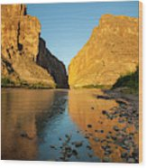 Santa Elena Canyon And Rio Grande Wood Print