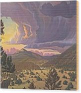 Santa Fe Baldy Wood Print
