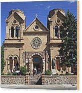 Santa Fe - Basilica Of St. Francis Of Assisi Wood Print
