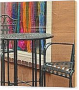 Santa Fe Cafe And Boutique Wood Print