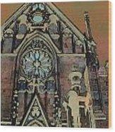 Santa Fe Cathedral Wood Print