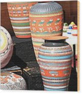 Santa Fe Pottery Wood Print
