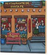Santa Fe Restaurant Wood Print by Victoria De Almeida