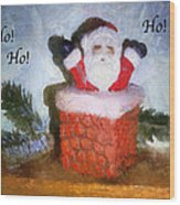 Santa Ho Ho Ho Photo Art Wood Print