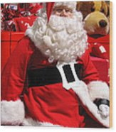Santa Is Ready Wood Print