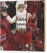 Santa Loves Coke Wood Print