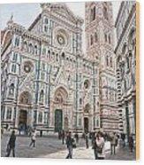 Santa Maria Del Fiore - Florence Wood Print
