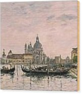 Santa Maria Della Salute And The Dogana Wood Print