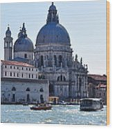 Santa Maria Della Salute Surrounded By Sparkling Waters Wood Print