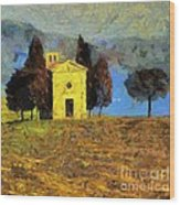 Santa Maria Di Vitaleta Wood Print