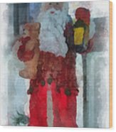 Santa Merry Christmas Photo Art 02 Wood Print