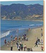 Santa Monica Beach Wood Print