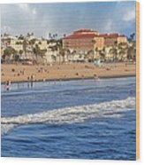 Santa Monica Beach View  Wood Print