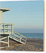 Santa Monica Lifeguard Station Wood Print