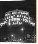 Santa Monica Pier 1 Wood Print