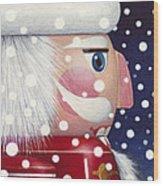 Santa Nutcracker Wood Print