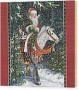 Santa Of The Northern Forest Wood Print