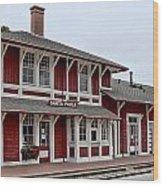 Santa Paula Station Wood Print