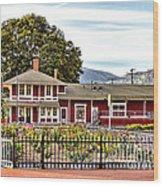 Santa Paula Train Station Wood Print by Jason Abando