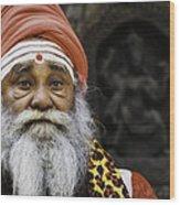 Santa Sadhu Wood Print