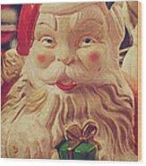 Santa Whispers Vintage Wood Print by Toni Hopper
