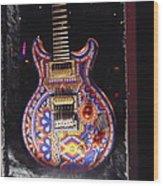 Santana Guitar Wood Print