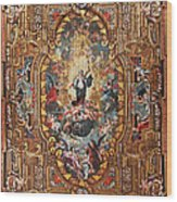 Santarem Cathedral Painted Ceiling Wood Print