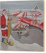 Santa's Airport Wood Print