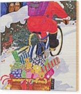 Santas Bike Wood Print